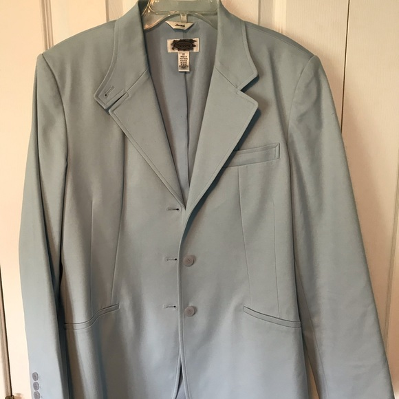 Talbots Jackets & Blazers - Talbot's pale slate blue fitted long blazer
